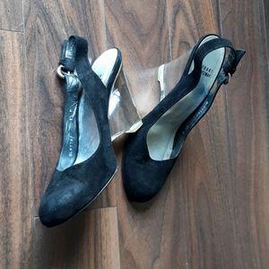 Stuart Weitzman Crystal platform wedge sandals